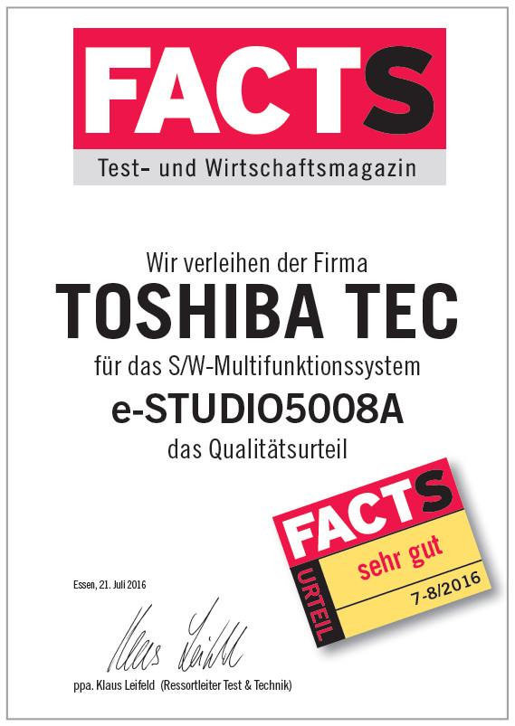 FACTS NAGRADA - TOSHIBA e-STUDIO5008A serija
