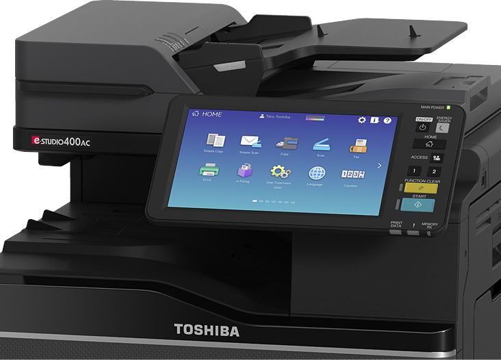 Toshiba več-dotični uporabniški vmesnik