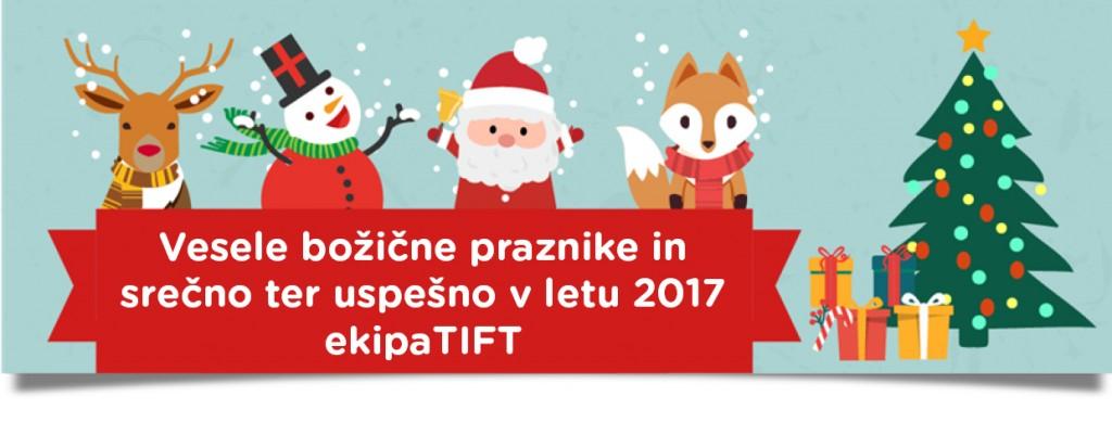 Vesele božične praznike in srečno ter uspešno v letu 2017